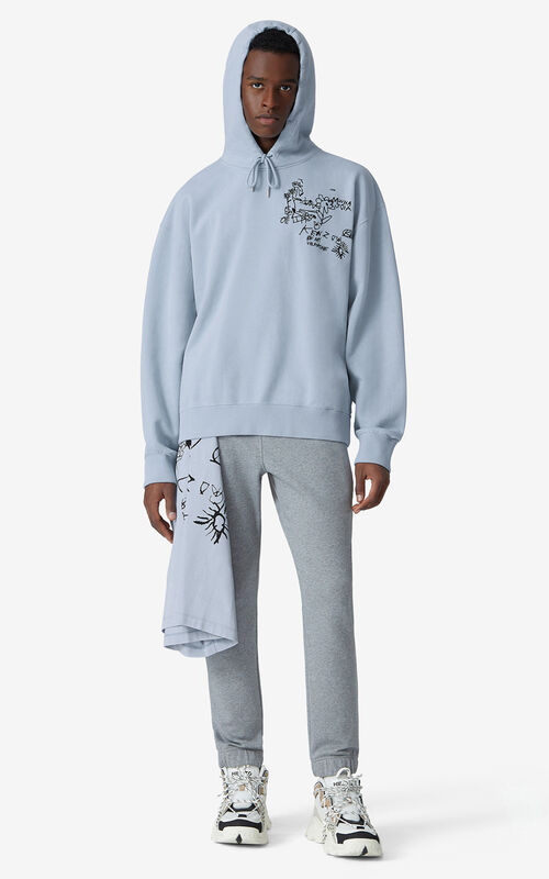 LAVENDER Valentine's Day Capsule 'Chest Valentines' oversize hooded sweatshirt for men KENZO