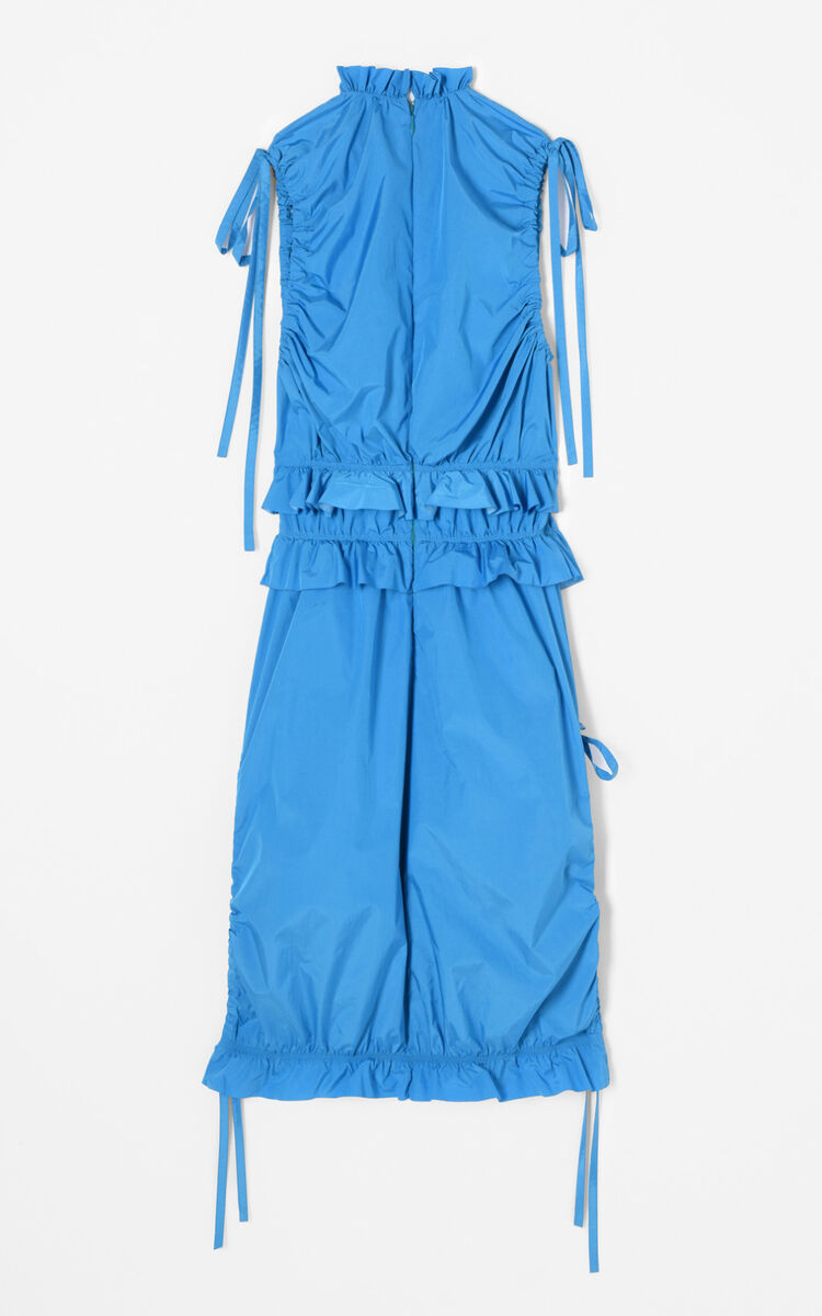 TURQUOISE Ruched Midi Dress for women KENZO