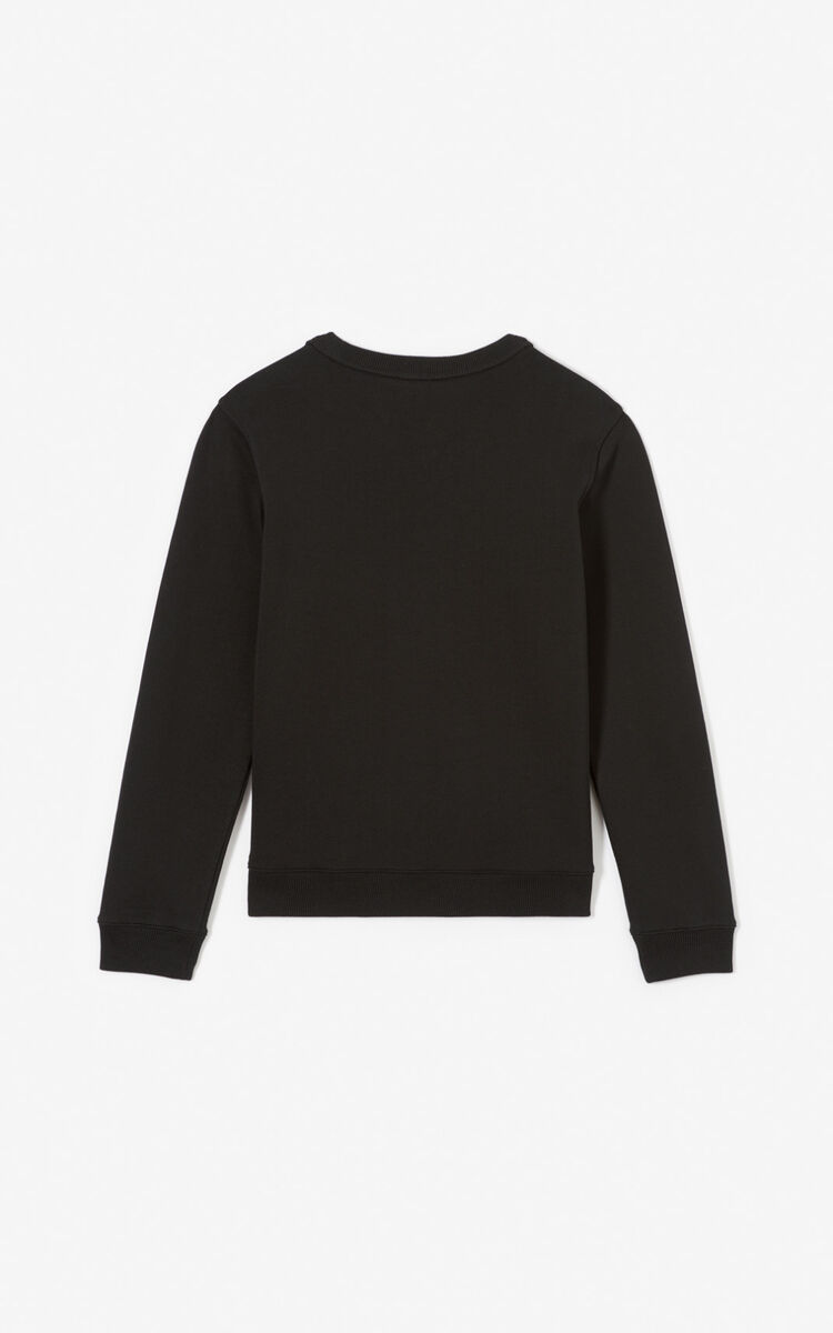 BLACK 'Tiger Square' sweatshirt for women KENZO