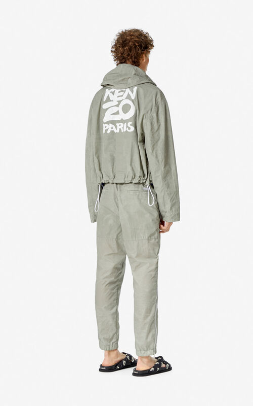 TAUPE KENZO Paris hooded jacket  for men