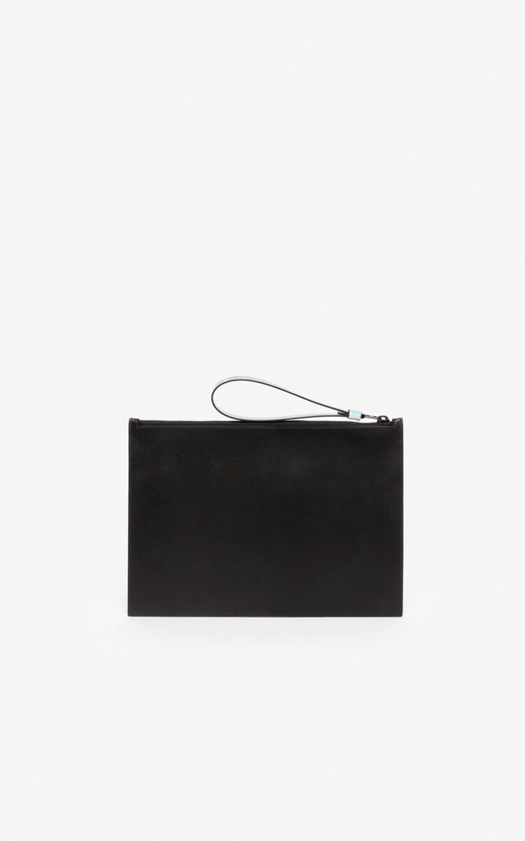 BLACK A4 KENZO Kontrast clutch for women