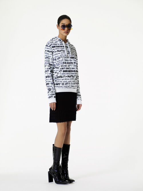 WHITE 'Earth' Hoodie for women KENZO