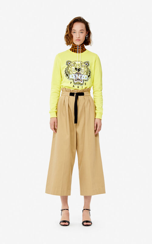 GOLDEN YELLOW Tiger sweatshirt for women KENZO