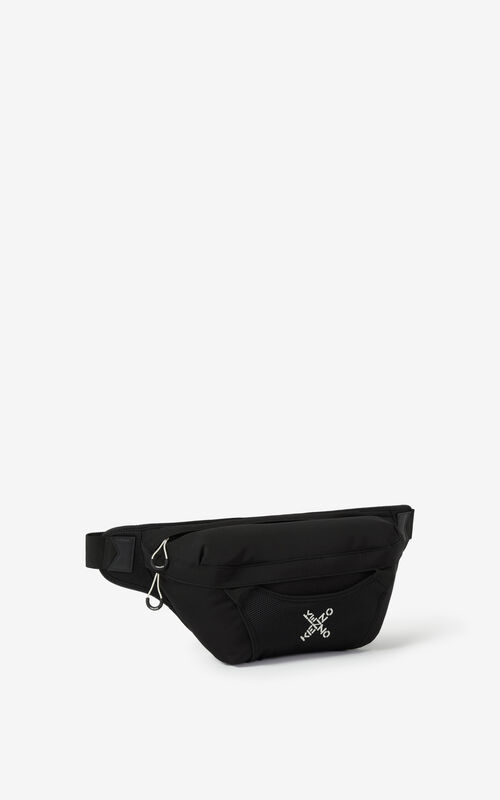 BLACK KENZO Sport large belt bag for unisex