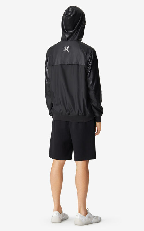 BLACK KENZO Sport 'Little X' wind stopper for women