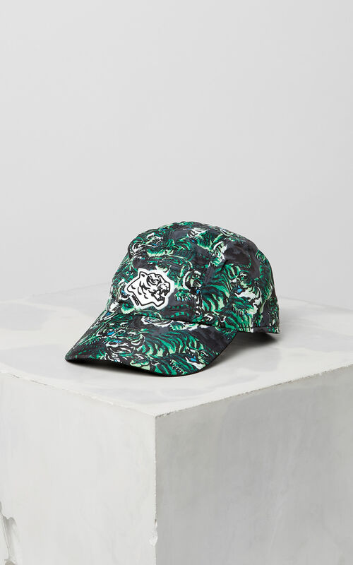 GRASS GREEN 'Flying Tiger' Caps for men KENZO