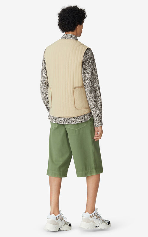BEIGE Reversible body warmer for men KENZO