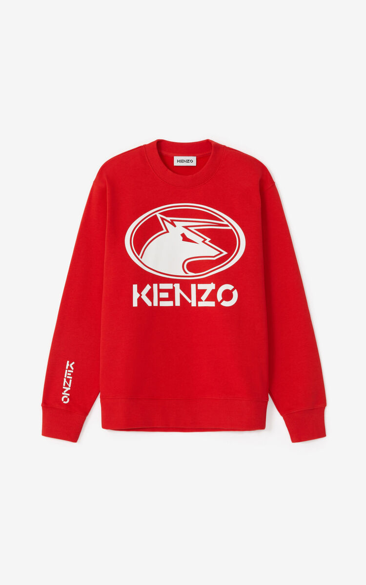 MEDIUM RED 'Chinese New Year Capsule' 'KENZO Ox' sweatshirt for women