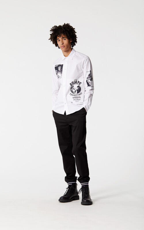 WHITE 'Movie Posters' shirt for men KENZO