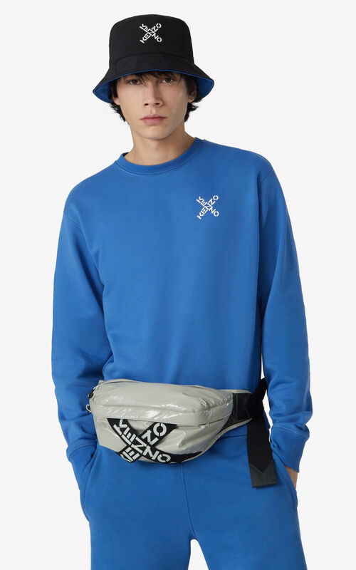 DOVE GREY KENZO Sport belt bag for men