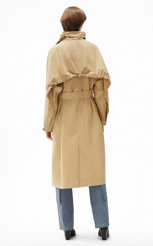 BEIGE Belted trench coat for women KENZO