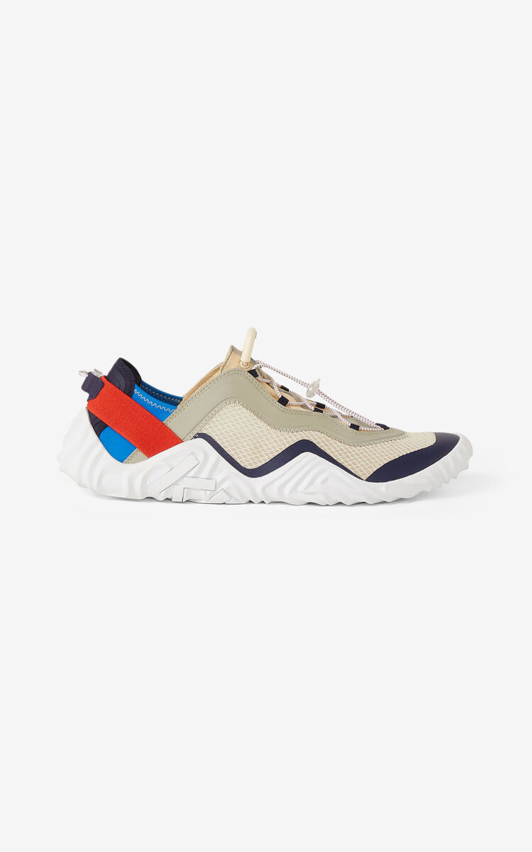 CREAM KENZO Sport Wave mesh sneakers for unisex