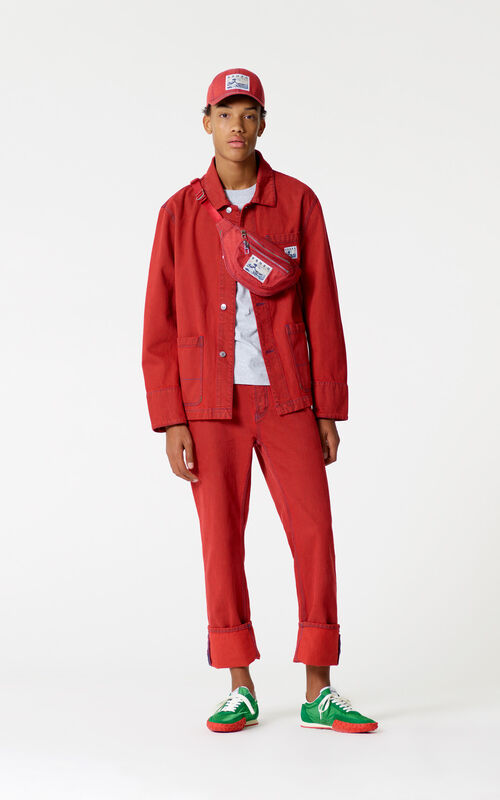 MEDIUM RED Denim jacket for men KENZO