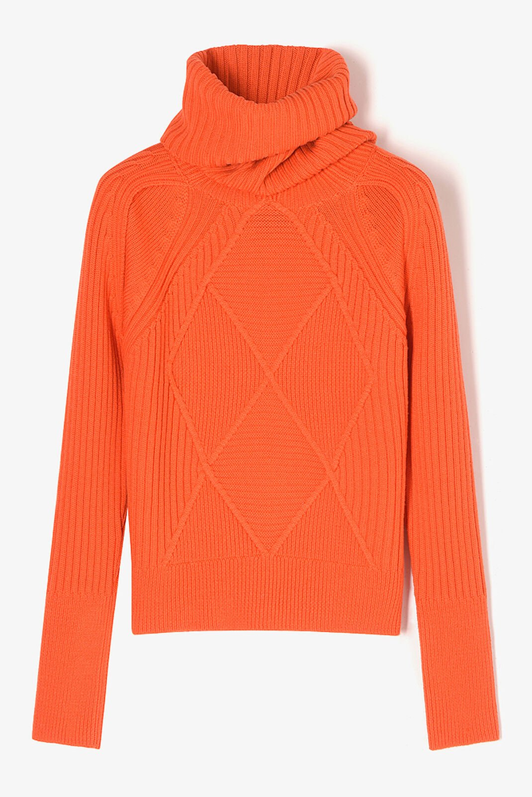 MEDIUM ORANGE Jumper with Argyle pattern for women KENZO