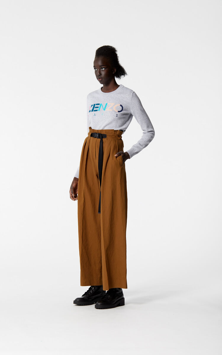 DARK CAMEL Flared trousers for women KENZO
