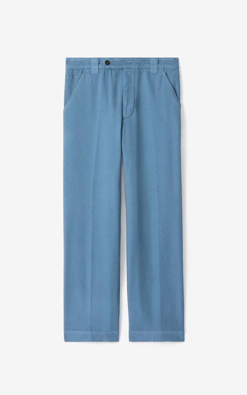 BLUE Cropped trousers for unisex KENZO