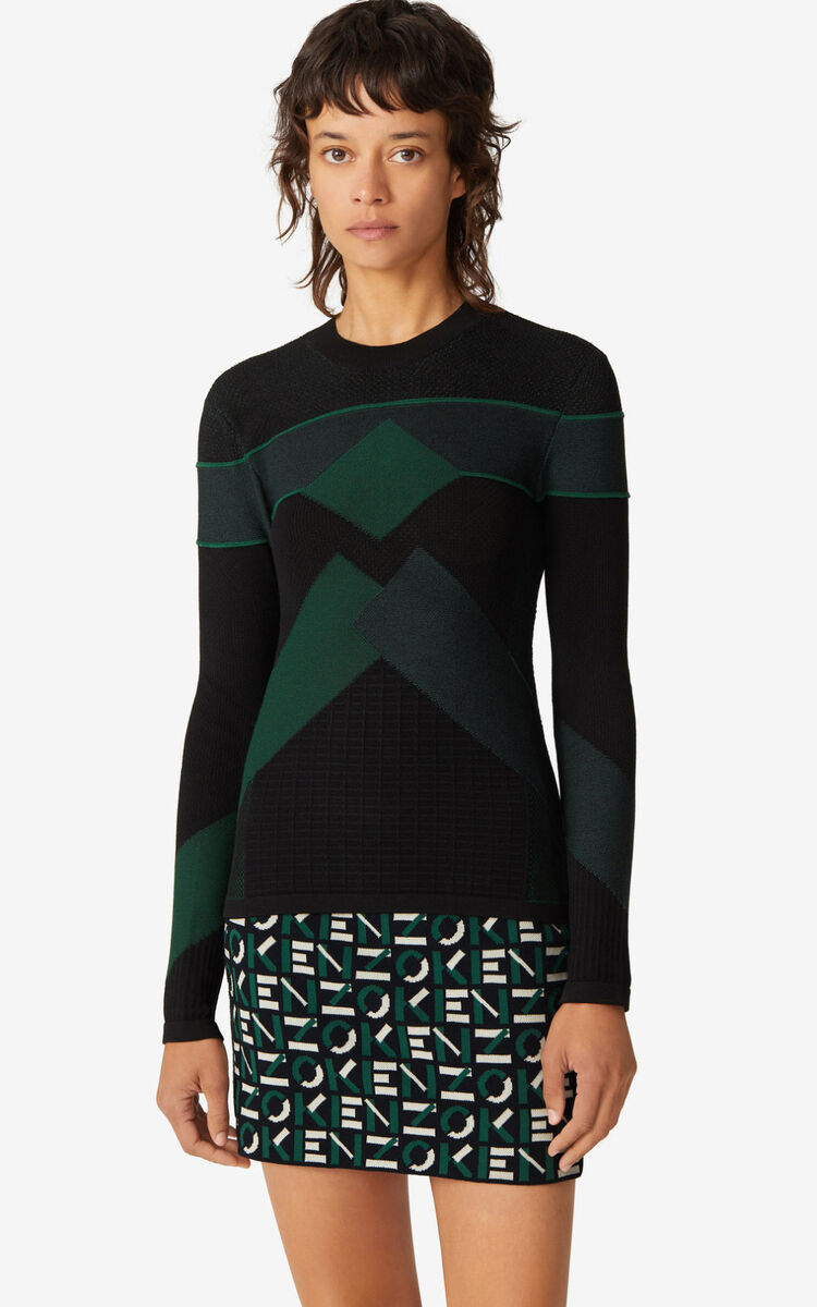 GREEN KENZO Sport jumper for men