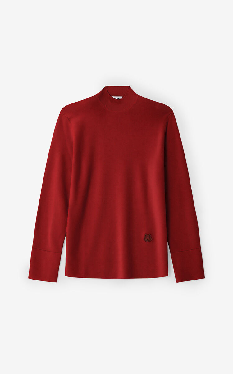 POPPY Tiger Crest merino wool jumper for women KENZO