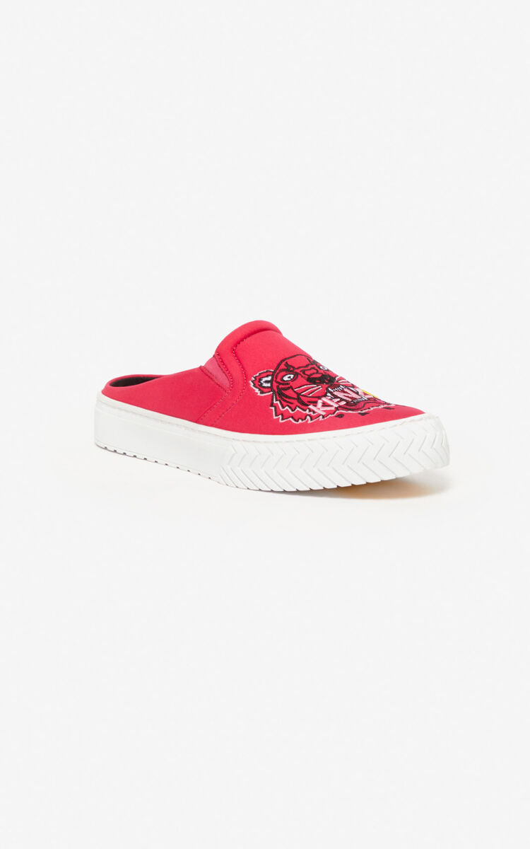 DEEP FUSCHIA Tiger K-Skate slip-on mules for unisex KENZO