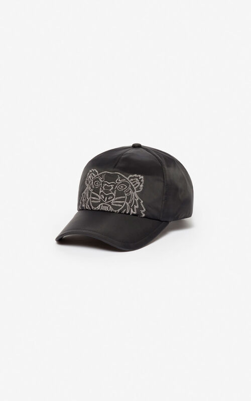BLACK 'Kampus' Tiger cap for unisex KENZO