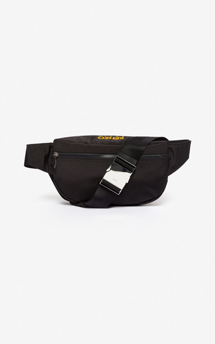 BLACK Tiger bumbag for men KENZO