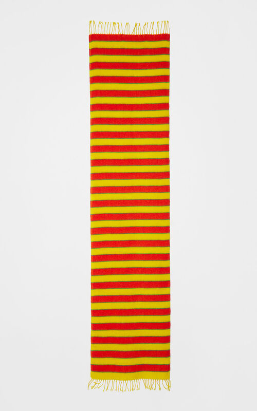 LEMON Striped woollen scarf for unisex KENZO