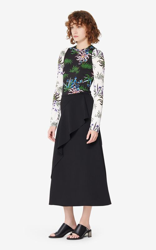 BLACK Long skirt for women KENZO
