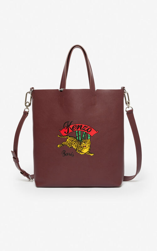 BORDEAUX 'Jumping Tiger' small tote bag for unisex KENZO