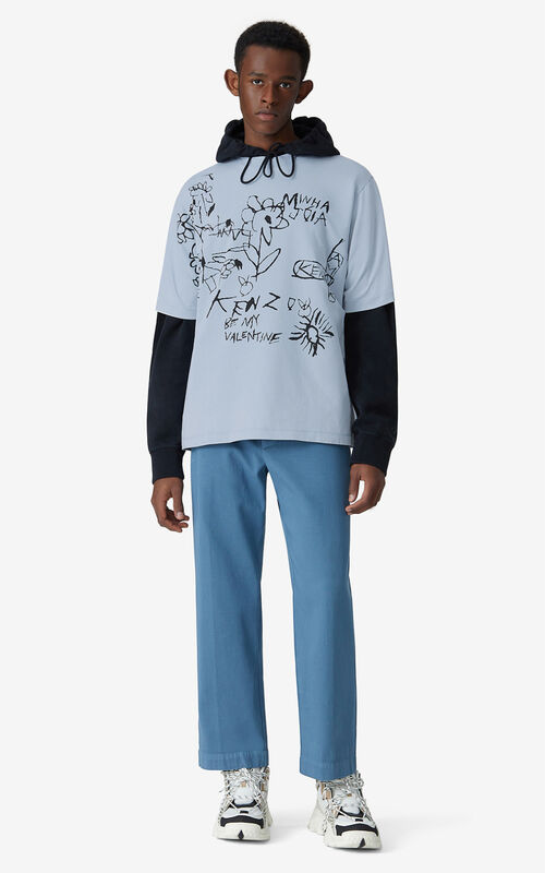 LAVENDER Valentine's Day Capsule 'Valentine's flowers' oversize T-shirt for men KENZO