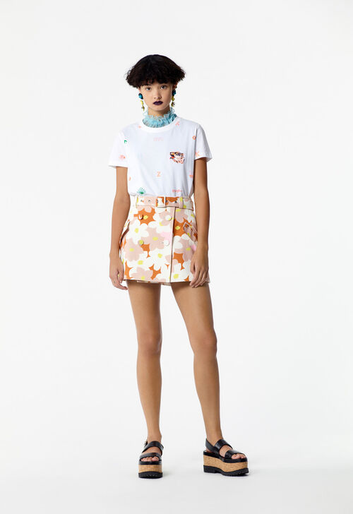 SKIN 'Jackie flowers' mini skirt for women KENZO