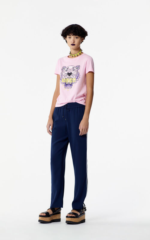 FLAMINGO PINK Tiger t-shirt for women KENZO