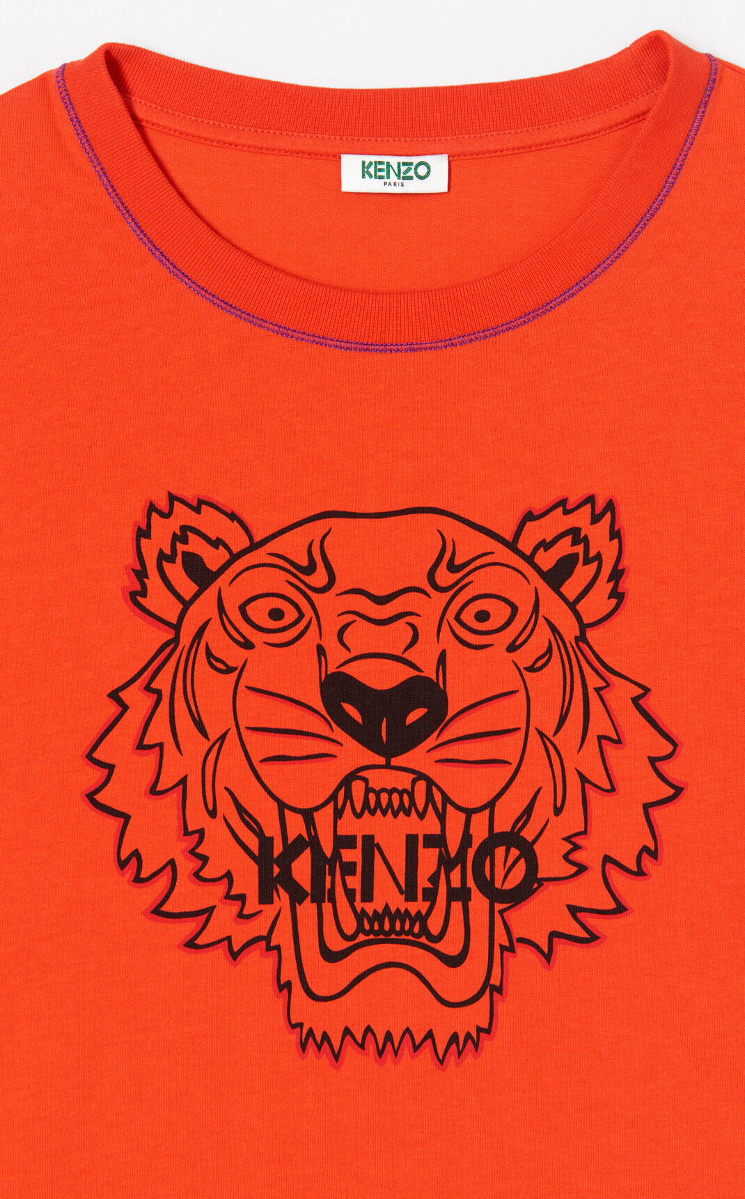 MEDIUM RED Tiger t-shirt dress for women KENZO