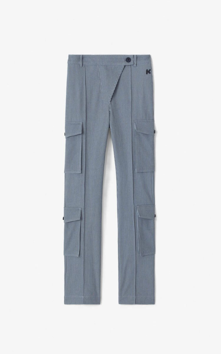 PEARL GREY Flared cargo trousers  for women KENZO