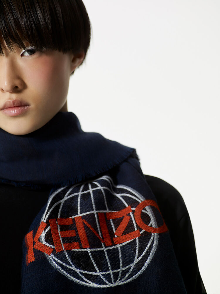 INK Eye x KENZO World Wool and Modal Scarf for unisex