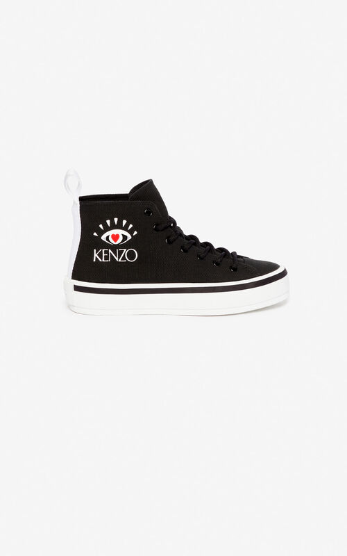 BLACK 'I ❤ KENZO Capsule' K-Street sneakers for women