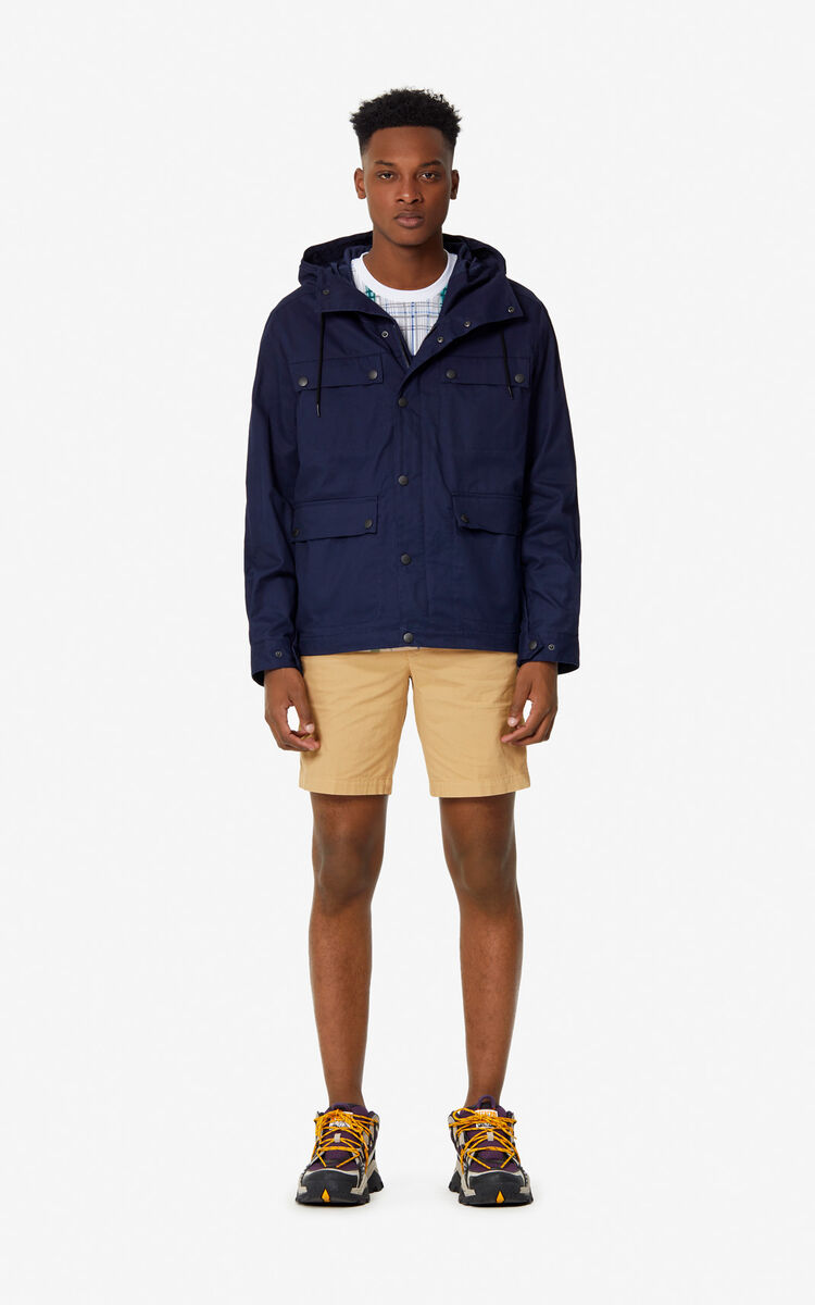 MIDNIGHT BLUE KENZO Paris parka for men