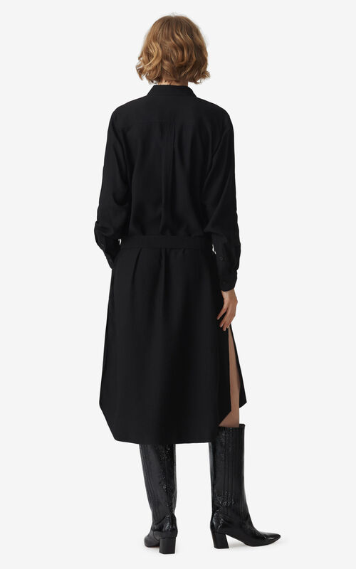 BLACK Midi shirt dress for women KENZO