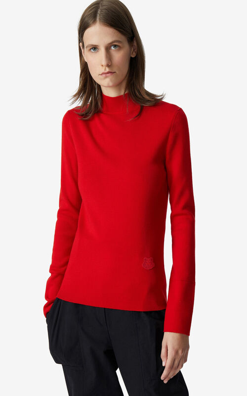 VERMILLION Tiger Crest merino wool jumper for men KENZO