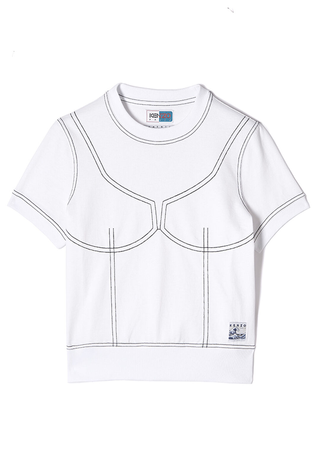 WHITE Illusion t-shirt for women KENZO