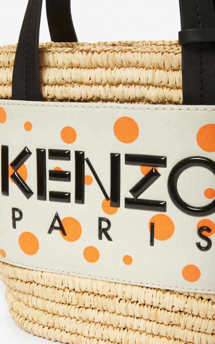 WHITE 'Dots' Summer Basket 'High Summer Capsule collection' for women KENZO