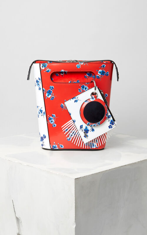 MULTICOLOR Mini ''May flowers' Stiff Tote Bag for unisex KENZO