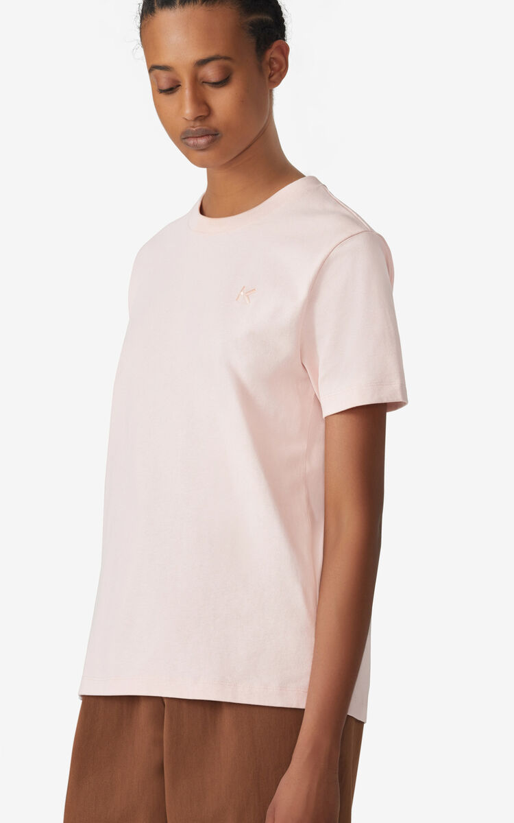 FADED PINK K Logo loose-fitting T-shirt for women KENZO
