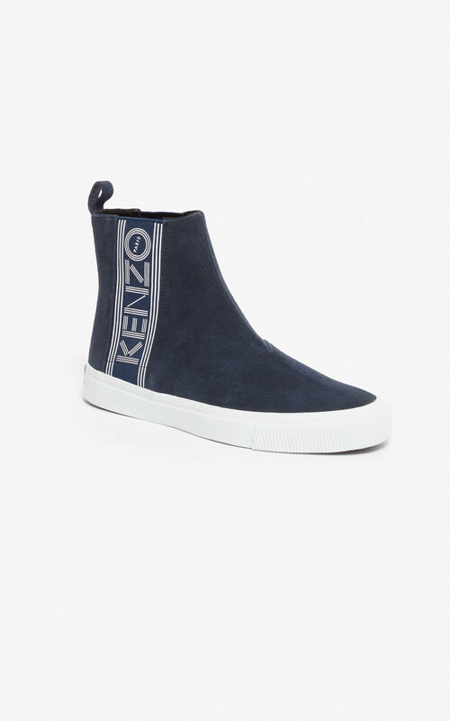NAVY BLUE Kapri slip-on high top shoes for unisex KENZO