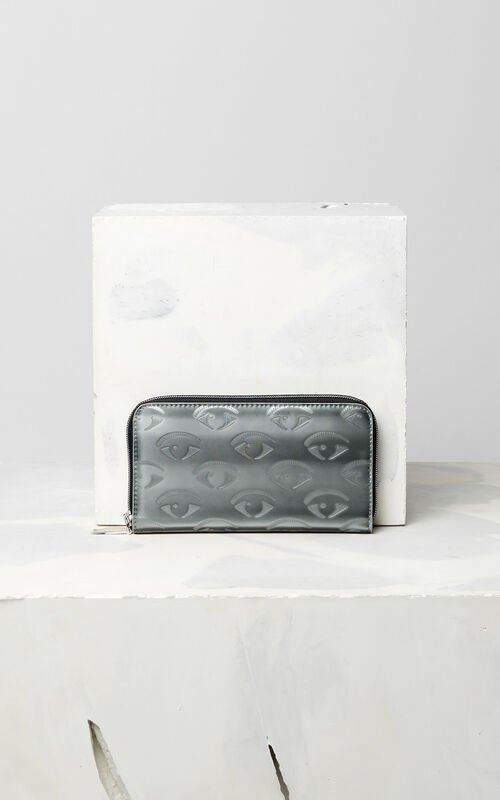 SILVER Multi Eye continental Wallet for women KENZO
