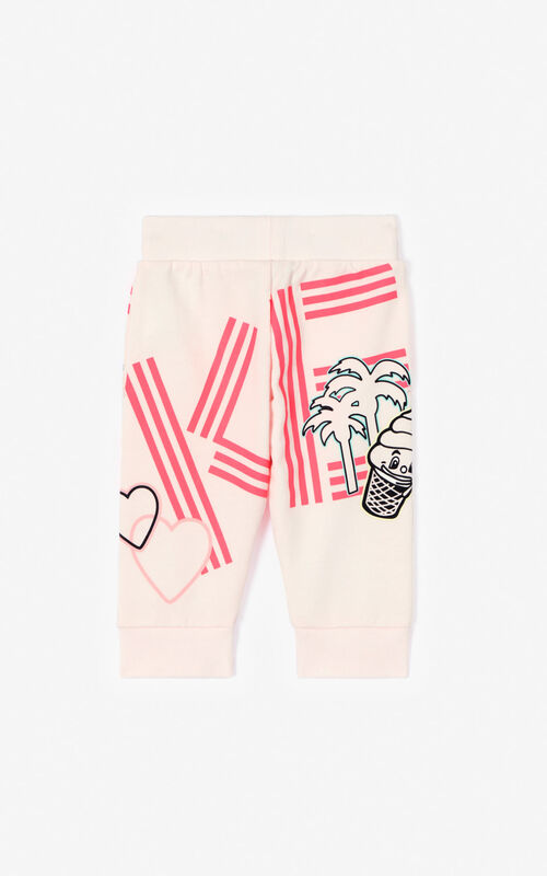 FADED PINK 'Cali Party' jogging trousers for women KENZO