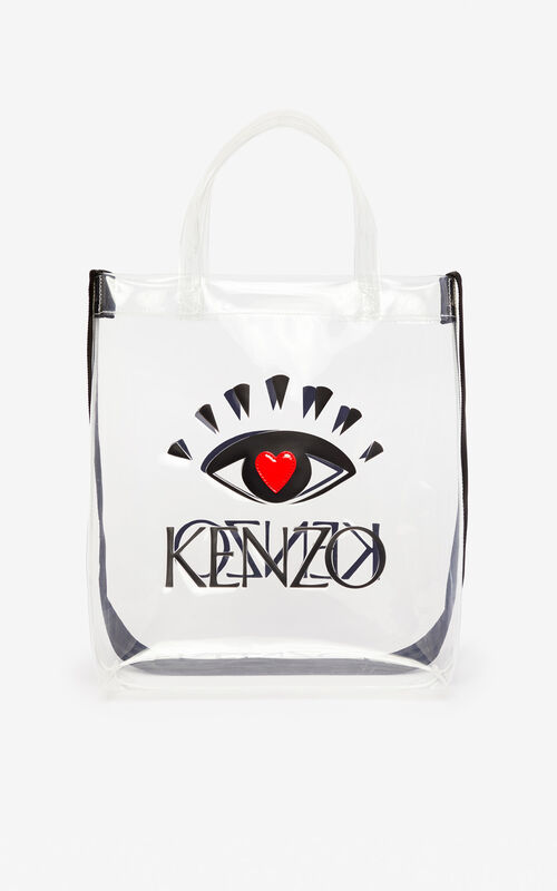 WHITE 'I ❤ KENZO Capsule' tote bag for unisex