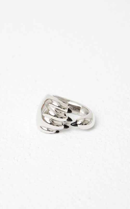 SILVER Tiger Paw Ring for unisex KENZO