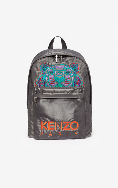 ANTHRACITE Large Tiger 'Kampus' backpack for unisex KENZO