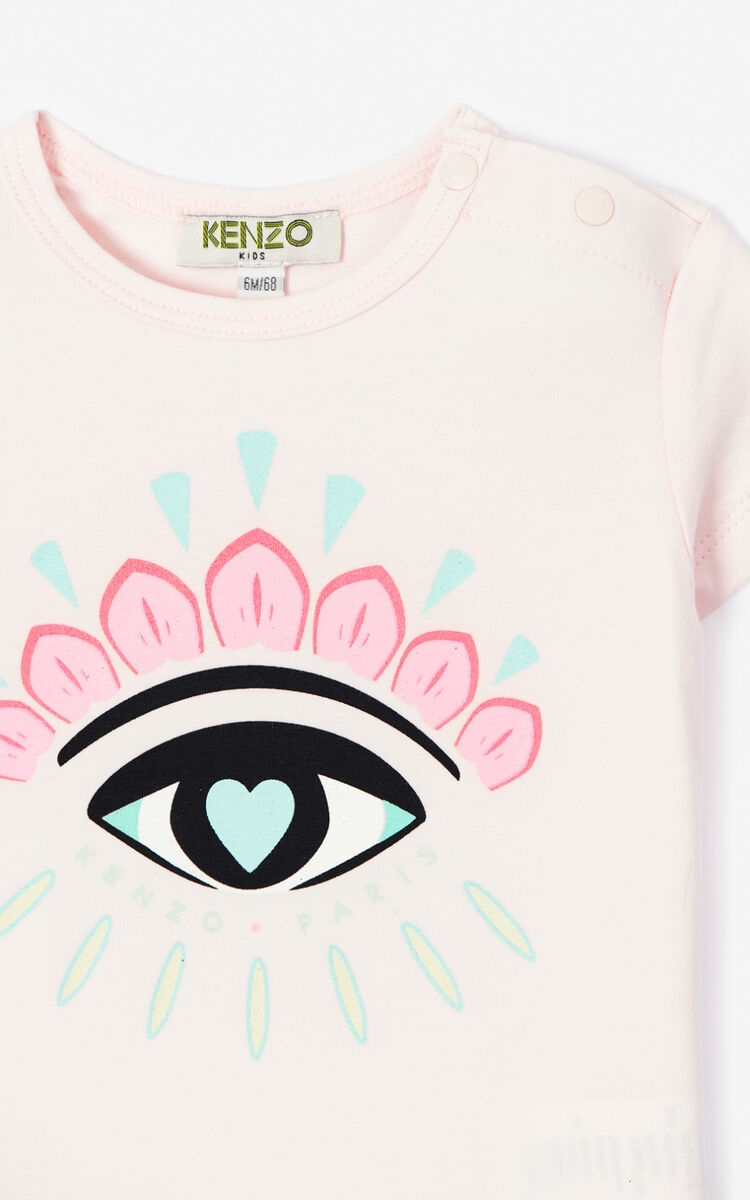 FADED PINK 'Cali Party' Eye T-shirt for unisex KENZO