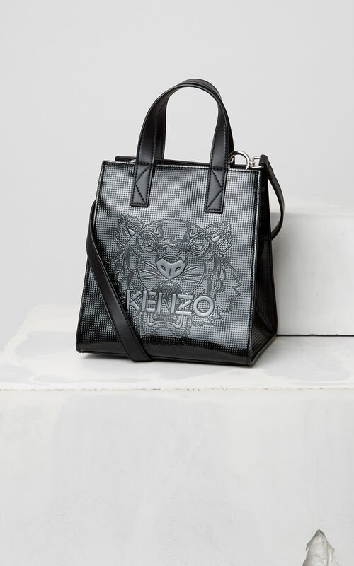 BLACK Mini Tiger Tote Bag for women KENZO